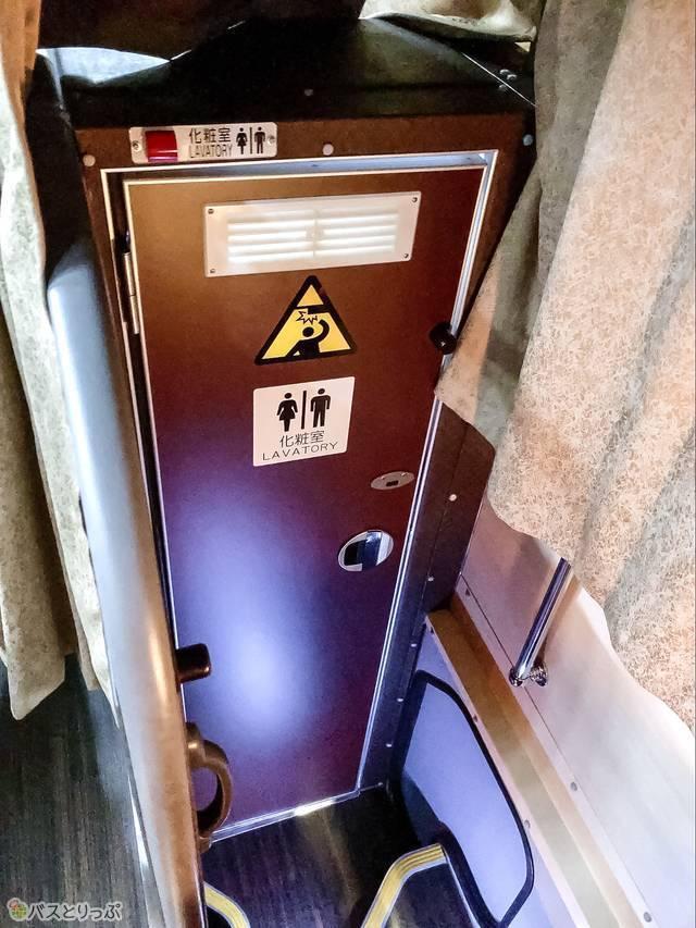 バス車内にあるトイレ
