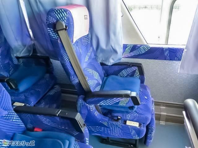 乗車時のシートはこの状態