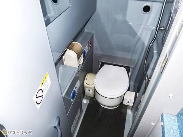 座席後方にトイレつき!(写真はイメージです)