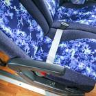 シートベルトは腰辺りにあります