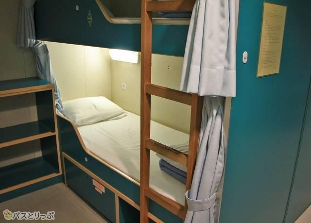 Bデッキ(5階)にある2等寝台B