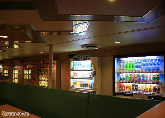 Aデッキ(6階)にあるオートレストラン