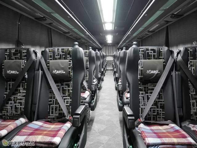 散策バス車内