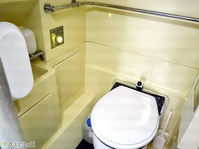水洗トイレと洗面所