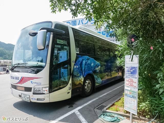 長岡温泉バス停は伊豆の国パノラマパークの目の前