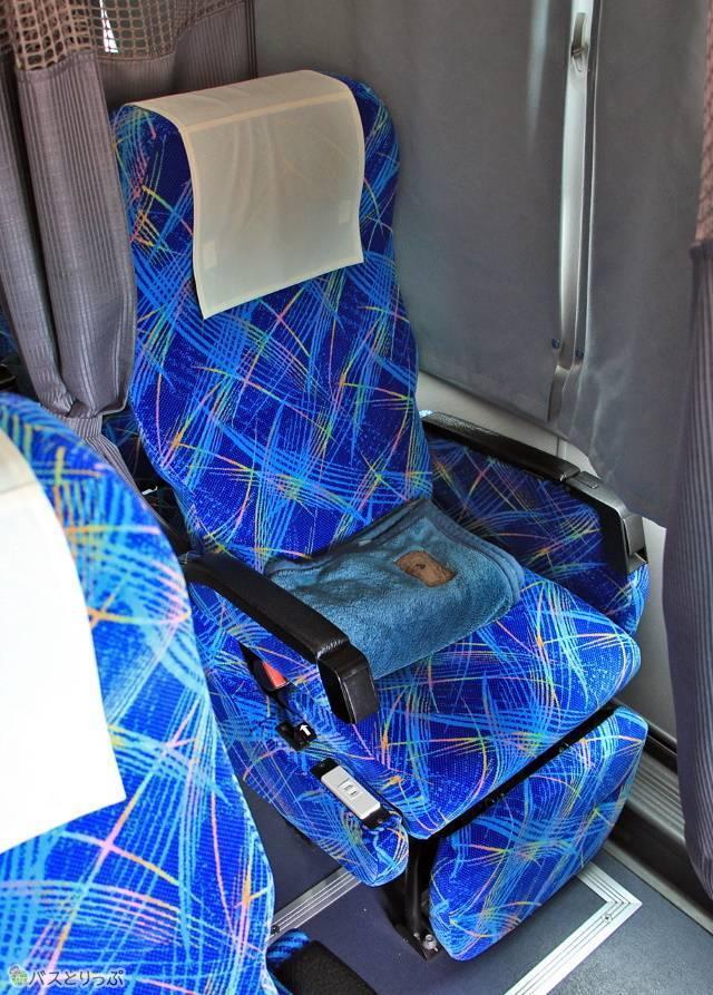 ゆったりとした1人掛けシート