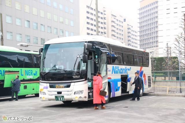 日本海観光バスの車両外観