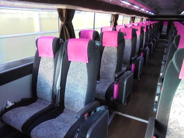 日本海観光バス車内