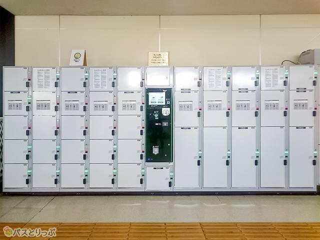 甲府駅構内北口のコインロッカー