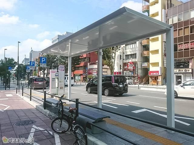 甲府駅南口(県会議事堂前)高速バス停