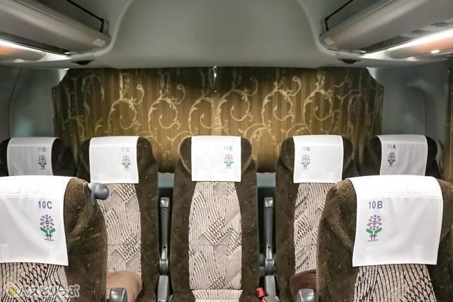 車両後方の座席