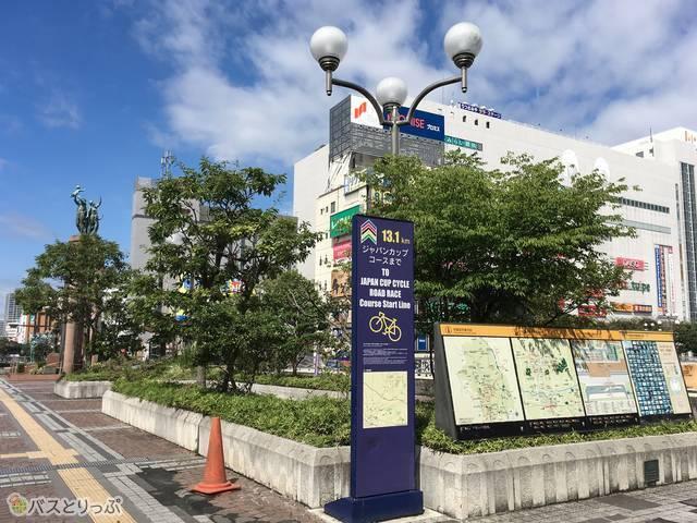 JR宇都宮駅西口バスターミナルの様子