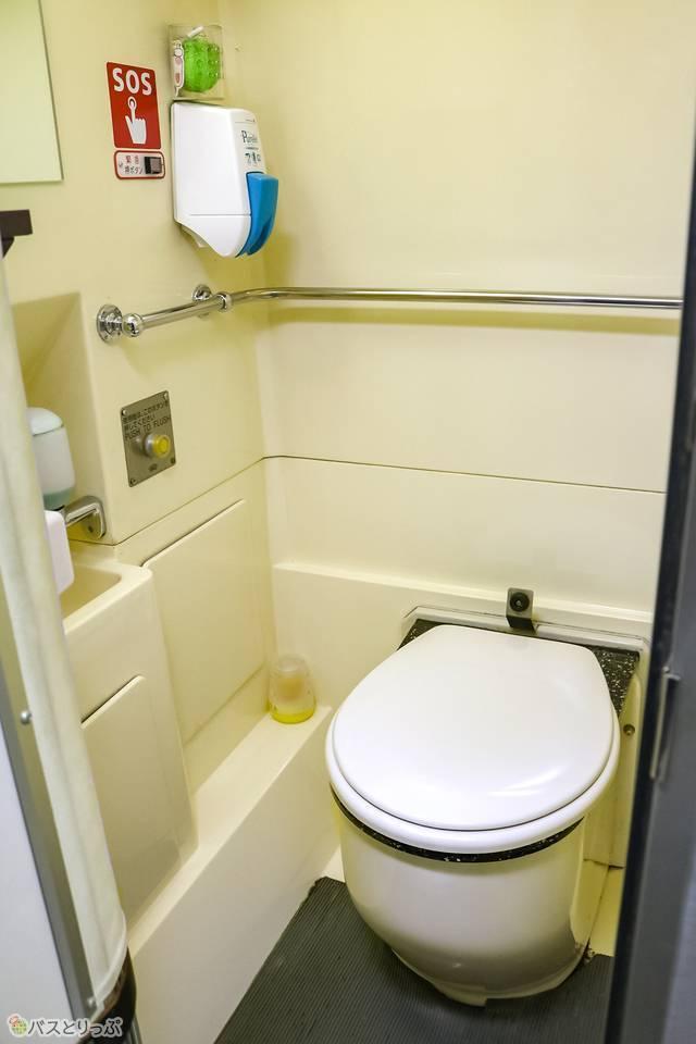 トイレ室内の様子。清潔感があって◎