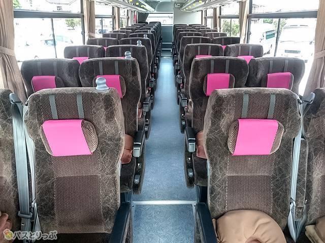 中日本ツアーバス 車両内観