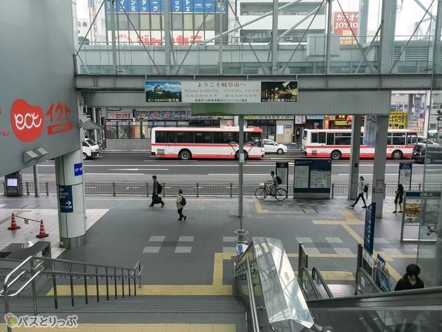 名鉄岐阜駅バスターミナル