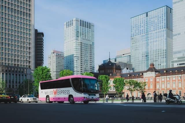 東京駅前の高速バス