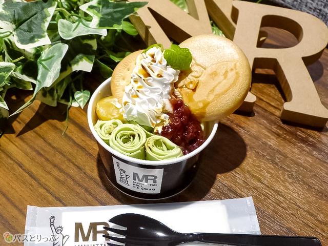 大阪初出店となる「マンハッタンロールアイスクリーム」。大阪限定メニューもあり(写真は「和抹茶」)