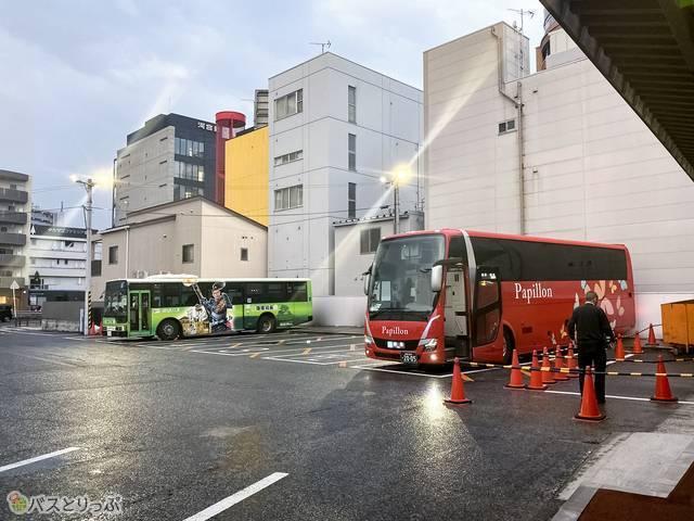 名鉄岐阜バスターミナルの様子