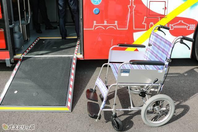 車椅子はこのように乗車できます