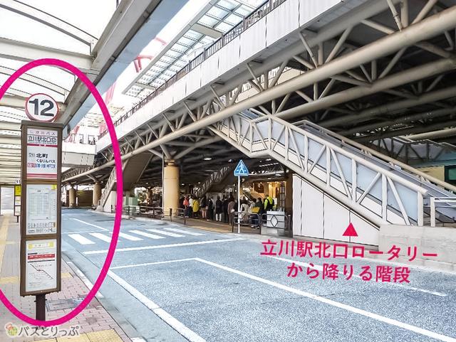 立川駅北口からすぐ