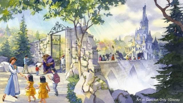 「美女と野獣の城」の外観(c)Disney