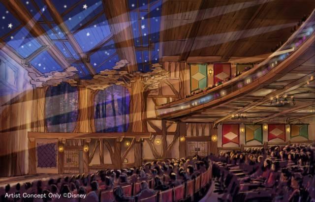 「ファンタジーランド・フォレストシアター」の内観(c)Disney