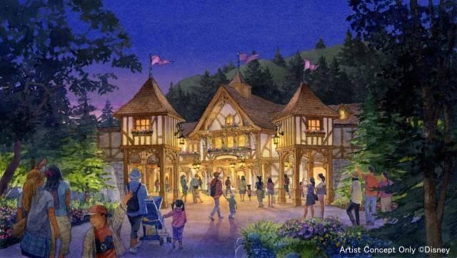 「ファンタジーランド・フォレストシアター」の外観(c)Disney
