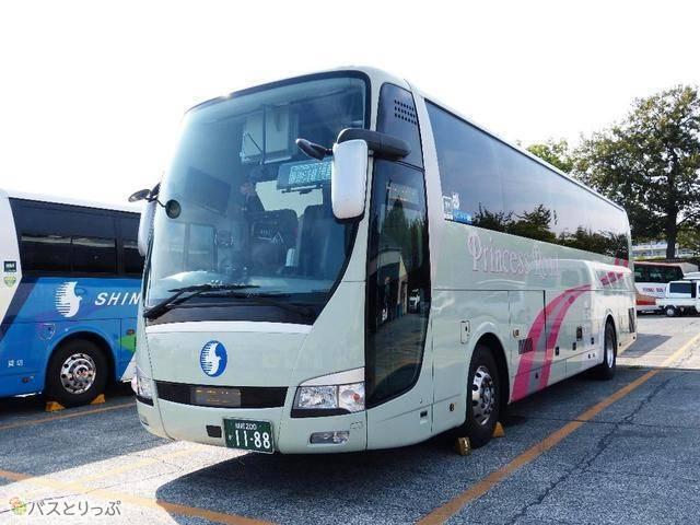 神姫バス「プリンセスロード」。東京~兵庫を直通で走る高級バス!