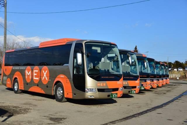 新車納入時のMEX(岩手県北バス南部支社提供)