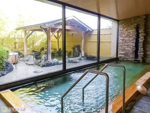 「海花亭 花御前」の大浴場。お湯は夕日ヶ浦温泉・美肌の湯!
