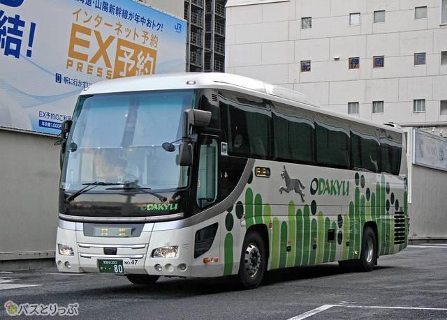 小田急シティバスの夜行バスは鮮やかなカラーリングが特徴