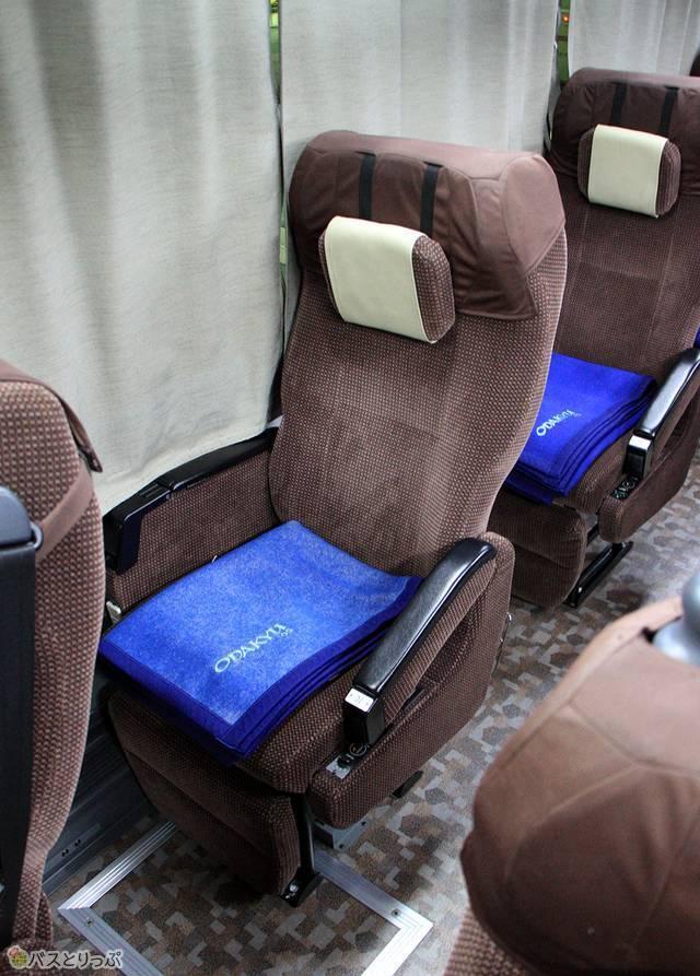 シートはヘッドレスト(可動式枕)を搭載