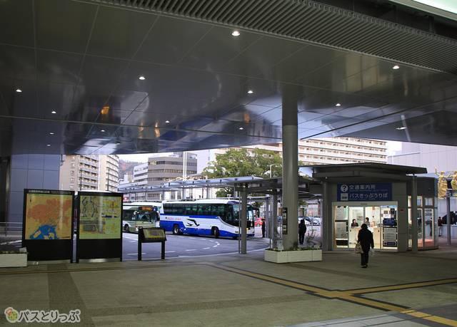 広島駅新幹線口のバスのりば