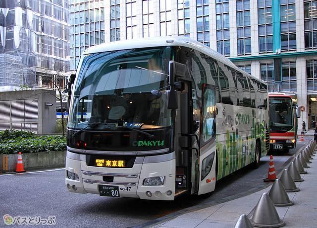 バスは終点の東京駅日本橋口に到着