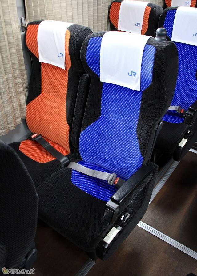 通常の4列シートよりも幅が広いシート