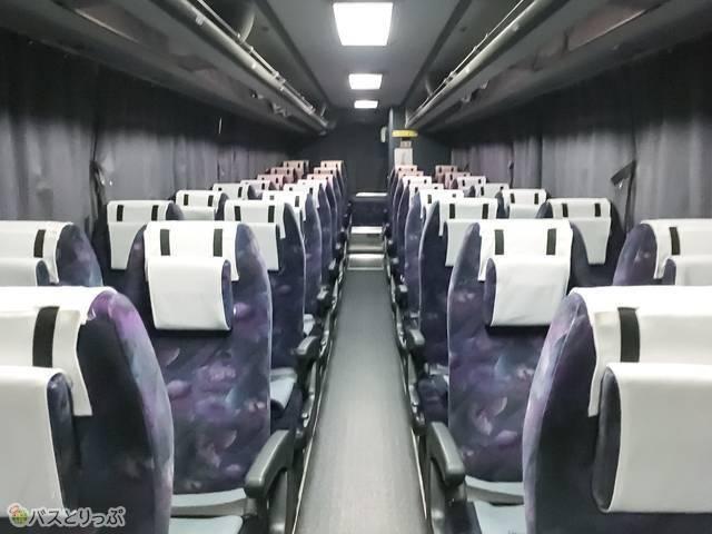 ほの国号の座席は全部で40席