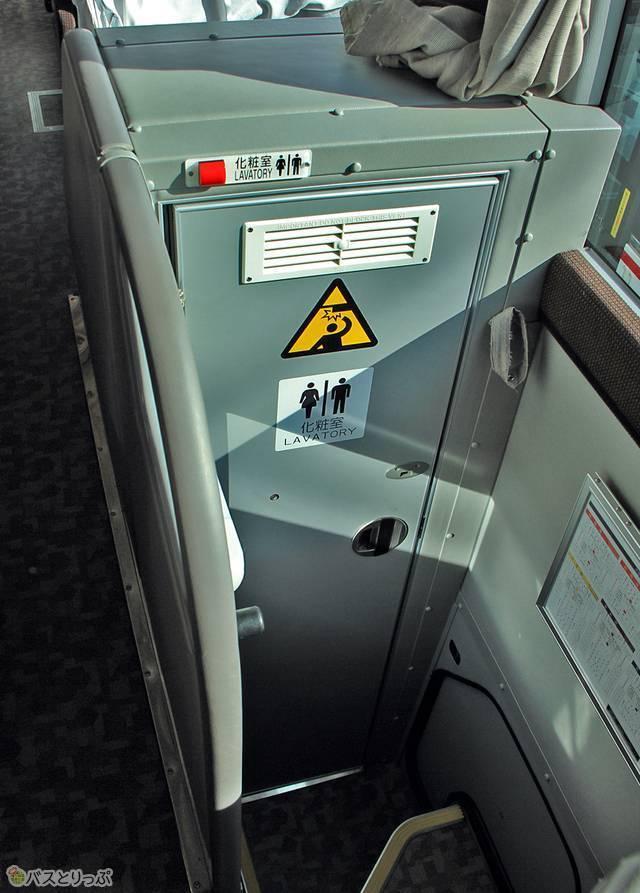 3列独立シート車のトイレ