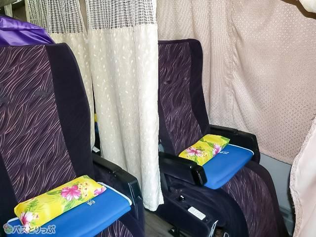 プライベートカーテンで個別空間を確保!