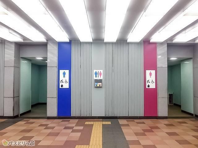 「キュービックプラザ新横浜」1階にある公衆トイレ