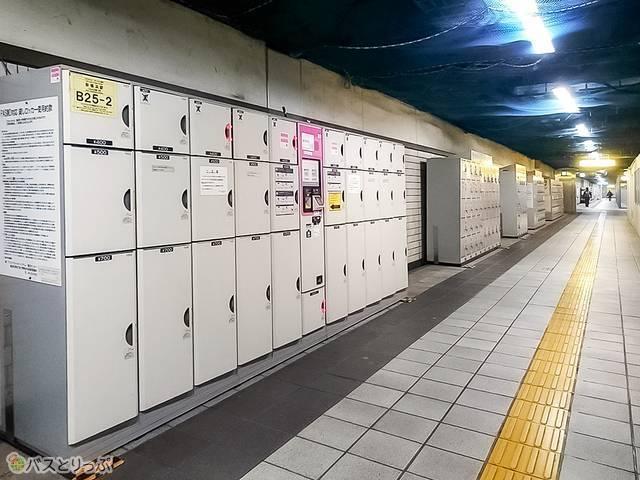 横浜市営地下鉄ブルーラインの改札階コインロッカー