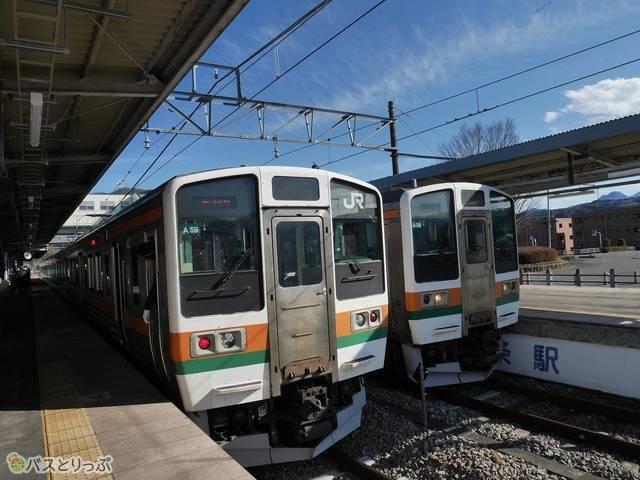 中之条駅ホームの吾妻線