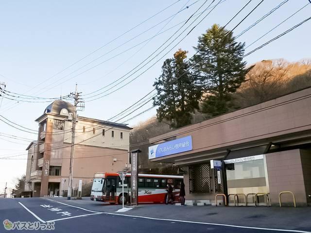 伊香保温泉行き路線バスの終点でもある伊香保温泉バスターミナル