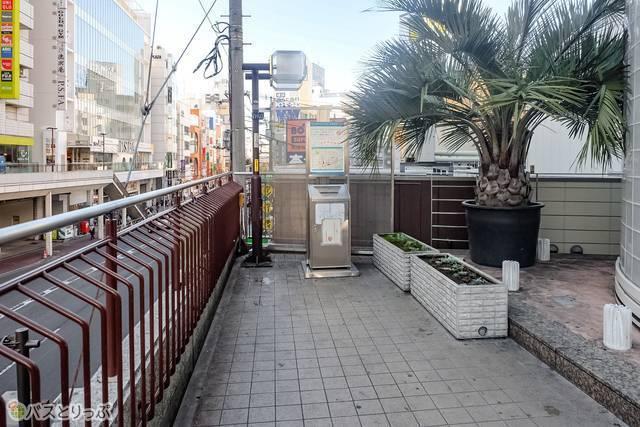 町田ターミナルプラザ前の喫煙所