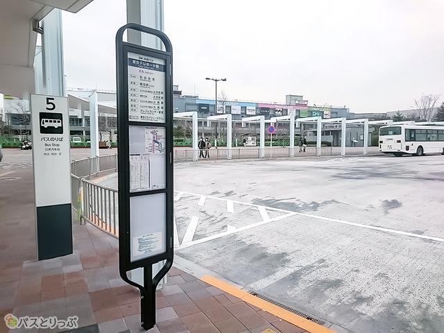 東京テレポート駅前 5番乗り場