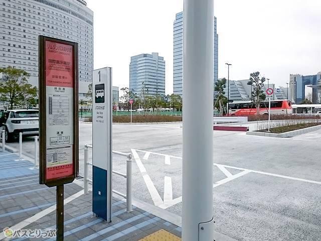 国際展示場駅のバス停
