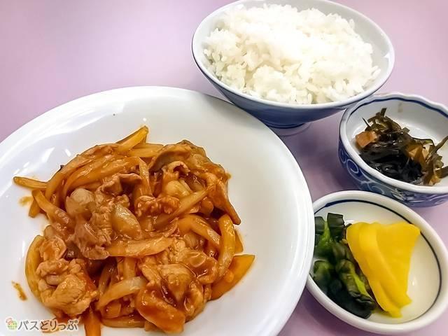 炒り豚とご飯