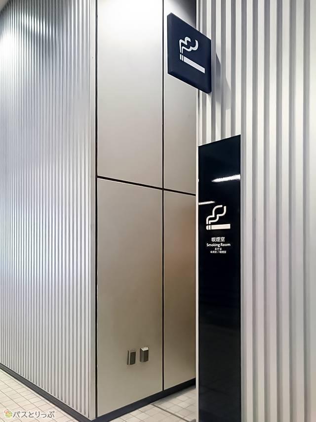 喫煙所は「東京ソラマチ」団体エントランス入り口付近に