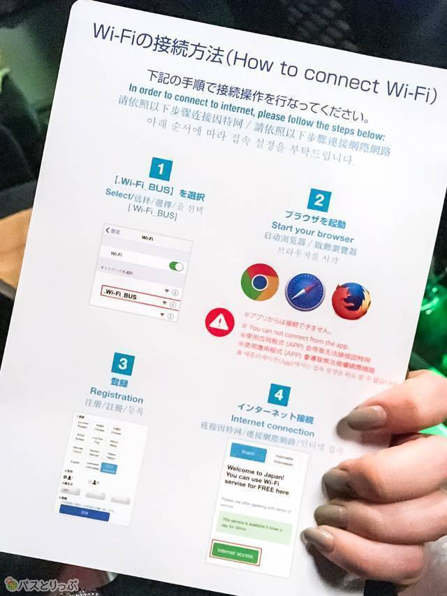 Wi-Fi接続方法の冊子(ブルーライナー)