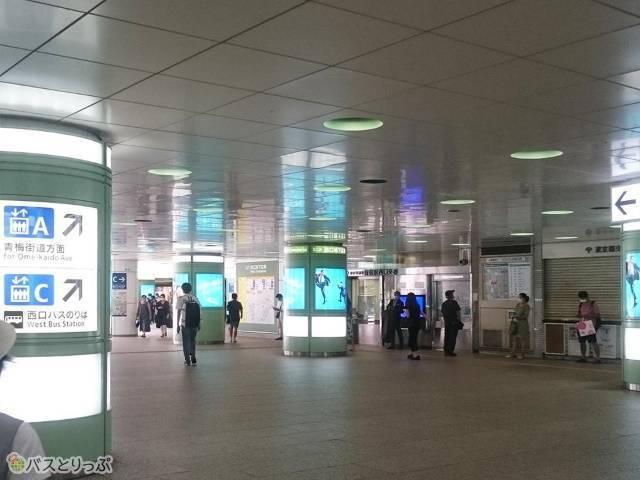 エリア・ビューロー新宿駅西口14番バス停への行き方