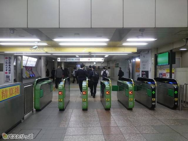 JR山手線中央改札口